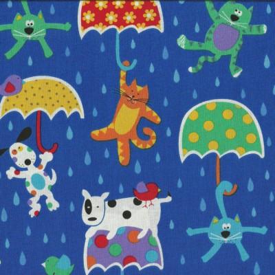 Quarter 50cmx56cm - Lustige Regentage - It´s Raining Cats and Dogs
