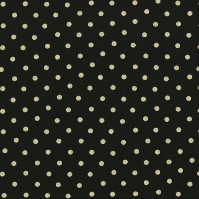 Moda Stoff Little Black Dress Polka Dot - Schwarz
