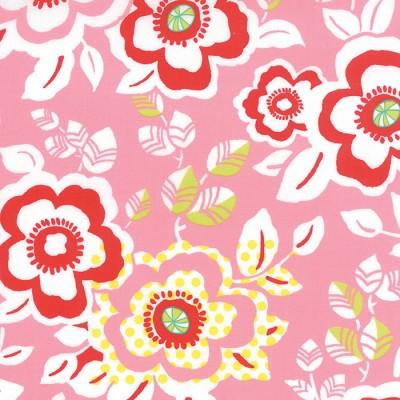 """Moda """"Moxi"""" grosse Blumen auf pink"""