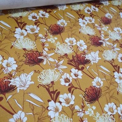 MYO Design Heavy Canvas - Autumn Flowers - gelb
