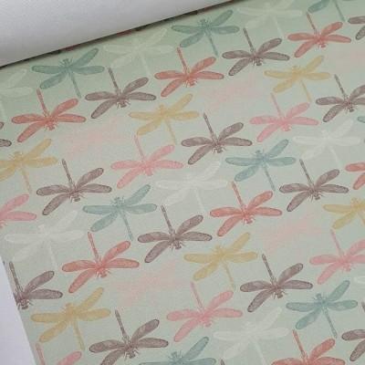 MYO Design Heavy Canvas - Libellen - mint
