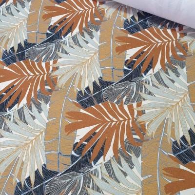 MYO Design Heavy Canvas - Palmenblätter - ecru