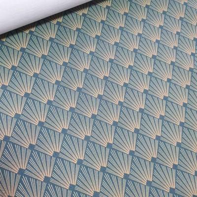 MYO Design Twill - Shine - blau