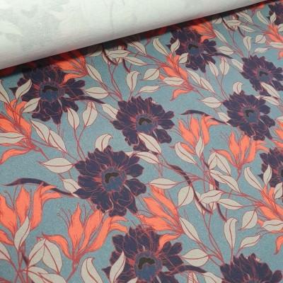 MYO Design Twill - Flowers - denim
