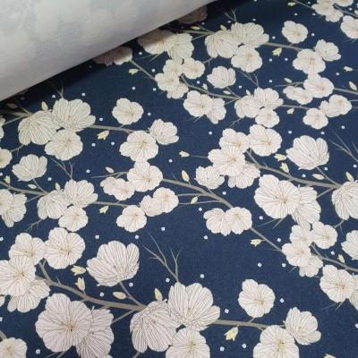 MYO Design Twill - Obstblüte - blau