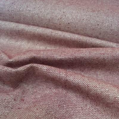 Glitzer - Canvas mit silber Lurex-Faden in bordeaux