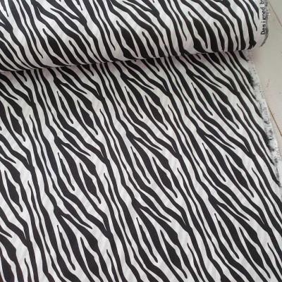 Baumwollstoff Zebra - schwarz-weiss - Stenzo