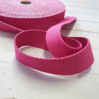 Glitzer Gurtband - 30mm - pink