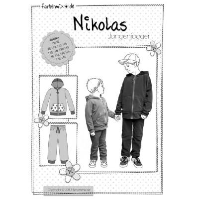 Nikolas Farbenmix Jungenjogger Schnittmuster