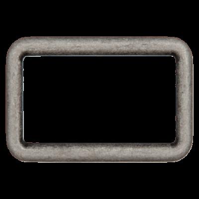 Rechteck-Ring, altsilber - verschiedene Breiten