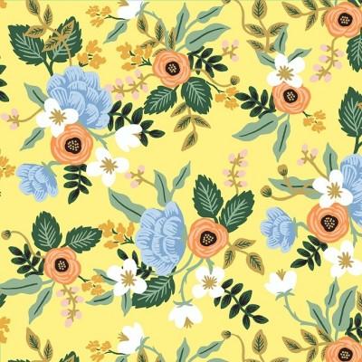 Cotton and Steel - Rifle Paper Co. - Primavera birch - yellow