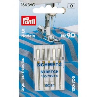 Prym 5 Stretch Nähmaschinennadeln 130/705H-S, No. 90/14
