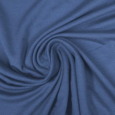 Viskosejersey jeansblau