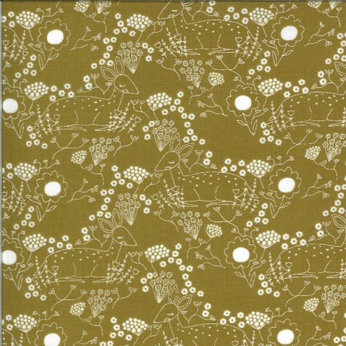 Meadow Deer umber - Dwell in Possibility von Gingiber - Moda Fabrics