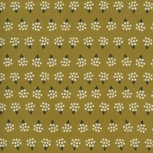 Tiny Bouquets umber - Dwell in Possibility von Gingiber - Moda Fabrics