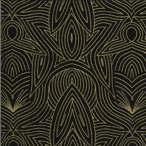 Nouveau night metallic - Dwell in Possibility von Gingiber - Moda Fabrics